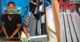 MAN ARRESTED WITH IMPORTED SNIPER RIFLES INTO GHANA: INSIDE STORY [AUDIO+PHOTOS]